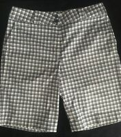 Women's Nike Fit Dry Plaid Flat Front Golf Shorts Size 10 Medium