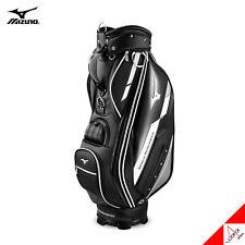 """Mizuno 2020 FRAME 003 Men Golf Cart Caddie Bag 9"""" 10lbs 5Way PU Enamel-Black"""