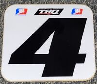Ricky Carmichael #4 Replica THQ Supercross Front Number Plate DECAL