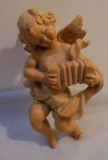"""Angel Playing Acordeon, Wall Hanging, Rubber, Italy, 5.5"""" Tall 3"""" Across Older"""