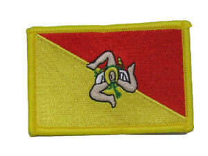 Sicily Country Flag Iron On Patch