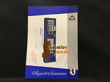 altes Prospekt-Blatt Wiegandt Waren-Automaten Berlin Neukölln – Standard 2/3 XD