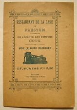 Ristorante Restaurant Paestum Salerno text English,Français,Deutscher 1900