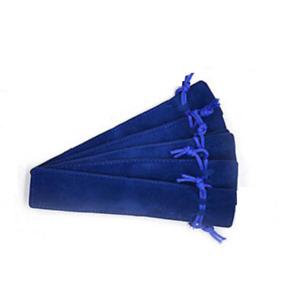 Lot de 5 Etuis à Stylo en Velours Bleu - Bijoux des Lys