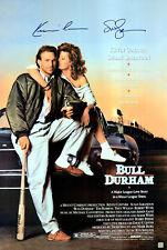 Kevin Costner & Susan Sarandon Autographed Bull Durham 24x36 Poster ASI Proof