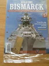 "Hachette ""Build the Bismarck"" model parts and instuction magazine issue 57"