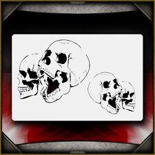 """Skull 12"" Airbrush Stencil Template Airsick"