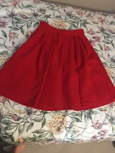 Red Skirt( 4 Spring, Autum Or Winter) Size 0 (XS)