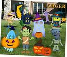 Halloween Decorations Outdoor 9 Pack Track-or-Treat Corrugate Yard Stake