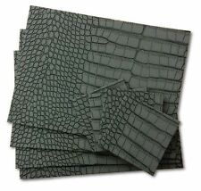 Faux Leather Animal Print Placemats