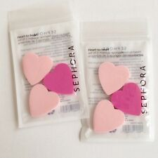 Sephora Collection HEART-TO-HEART MAKEUP SPONGES #1737980 ~ Set of 3/pack ~ PINK