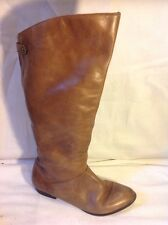 Aldo Brown Knee High Leather Boots Size 6