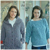 King Cole Ladies Super Chunky Knitting Pattern Womens Coatigan Cardigan /& Gilet 4612