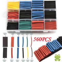 560pcs Heat Shrink Tubing Electrical Wire Cable Wrap Assortment Tube Kit 12 Size