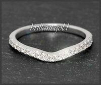 Diamant Brillant Memory Ring aus 585 Weißgold, 0,30 ct Halb Eternity, Gold, Neu