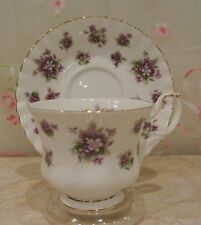 Royal Albert China Sweet Violets/Montrose Shape Footed Cup & Saucer