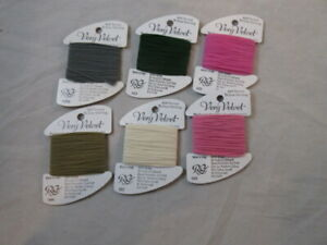 Rainbow Gallery  Very Velvet 10 Yards Each Lot of 6    100% Nylon           F126