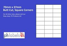 A4 White Multi-Purpose 24 to view 70mm x 37mm Self adhesive labels (500 Sheets)