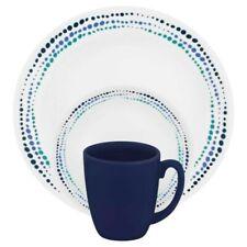 CORELLE Livingware Ocean Blues 16-piece Dinnerware Set for 4 NEW