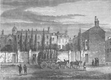 HAMMERSMITH. The nunnery, Hammersmith, in 1800. London c1880 old antique print