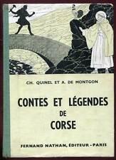 CONTES ET LEGENDES DE CORSE. NATHAN. 1956.