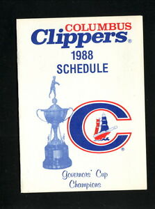 Columbus Clippers--1988 Pocket Schedule--Budweiser--Yankees Affiliate