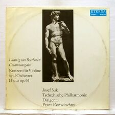 JOSEF SUK, KONWITSCHNY - BEETHOVEN violin concerto ETERNA LP EX+