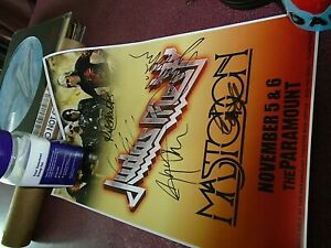 JUDAS PRIEST CONCERT POSTER AUTOGRAPHED SIGNED PARAMOUNT THEATER ASBURY NOV 5/6