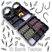 Carp Fishing Tackle Box Lead Clips Hooks Swivels Clips Shrink Tube Terminal Rigs