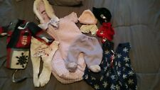 """Baby Doll Clothes - 9 pc. some handsewn/knitted -Chou , Cabbage Patch, 16""""-18"""""""