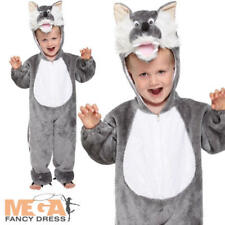 Wolf Toddler Age 2-3 Fancy Dress Fairytale Halloween Childs Kids Boys Costume