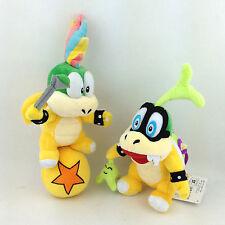 "2X Koopalings Iggy Lemmy Koopa Super Mario Bros Plush Toy Stuffed Animal 7""-9"""