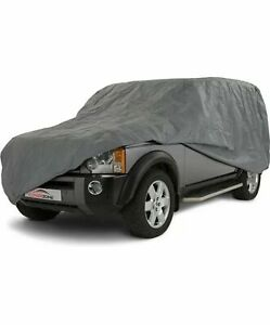 Waterproof Car Cover 2 Layer Heavy Duty Cotton Lined UV Protection - Size 4X4