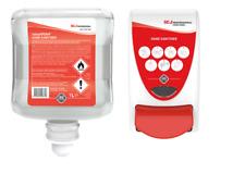Deb Sanitise Dispenser & DEB Cutan Complete InstantFOAM Sanitiser 1 Litre
