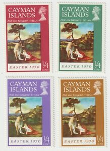 1970 Cayman Islands - Easter, Paintings - 4 Stamps from Set