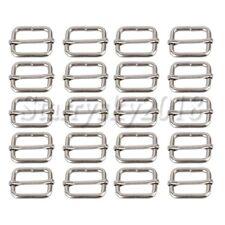 20PCS 25mm Metal Triglides Slides Webbing Roller Pin Buckles Slide Adjusters