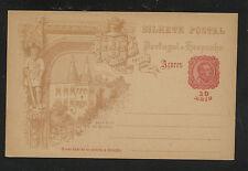 Portugal   Azores   postal  card  10 reis   unused       KL0513