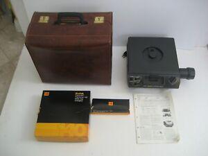 Vintage Kodak Slide Projector in Leather Storage Case - 140 Tray Capacity