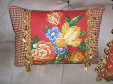 LAST1's Gorgeous Pierre Deux Pillow Gittens Red Yellow Blue French Country Toile