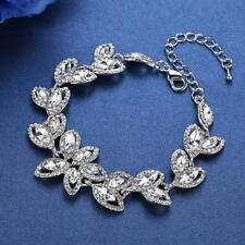 Marquise Cut Crystal Statement Leaf Bracelet - New in Gift Box
