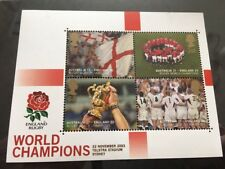 2003 Gb Sg Ms2416 England's Rugby World Cup Victory Mini-Sheet Mnh