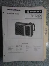 Sanyo RP 1250 service manual original repair book am radio transistor portable