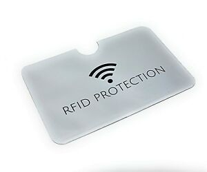 RFID Sleeve Debit/Credit Card Protector Contactless Blocking Wallet Holder Bank