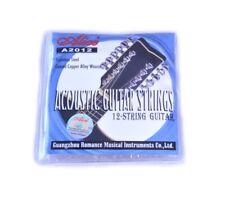 12 Stringa Corde per Chitarra Acustica Acciaio Inox Rame Avvolte 10 - 50 26
