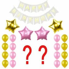 Birthday Party Decoration Set Happy Birthday Banner Helium Number Balloon Kids