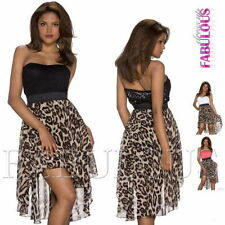 Asymmetrical Hem Animal Print Dresses for Women