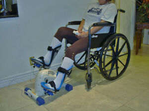Motorized bike+Foot splints+Stroke Training gloves for the disabled Elderly SCI