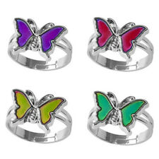 Mood ring band color changing by temperature ajustable  butterfl~GN