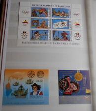 MOLDAVIE:1980-2000:lot de 17 blocs neufs:voir photos et détails