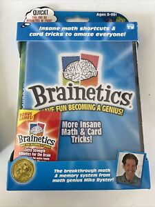 Brainetics More Insane Math and Card Tricks Playbook And DVD NEW